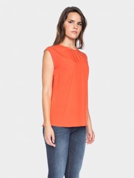 feines Blusen-Top Femke orange