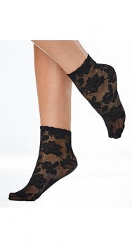 Ankle Sock All Over Lace, black