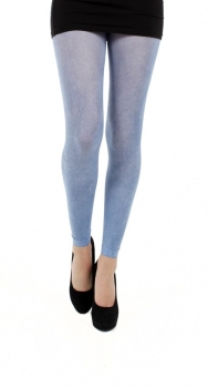 Footless Tights Denim Printed