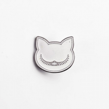 Emaille Pin Grinsekatze