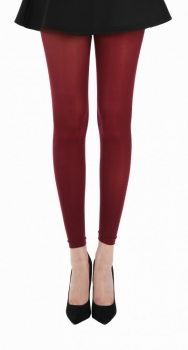 50 Footless Tights Burgundy