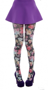 Tights Pretty Flowers Printed