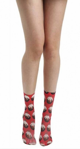 Socken mit Printmotiv Christmas Pudding